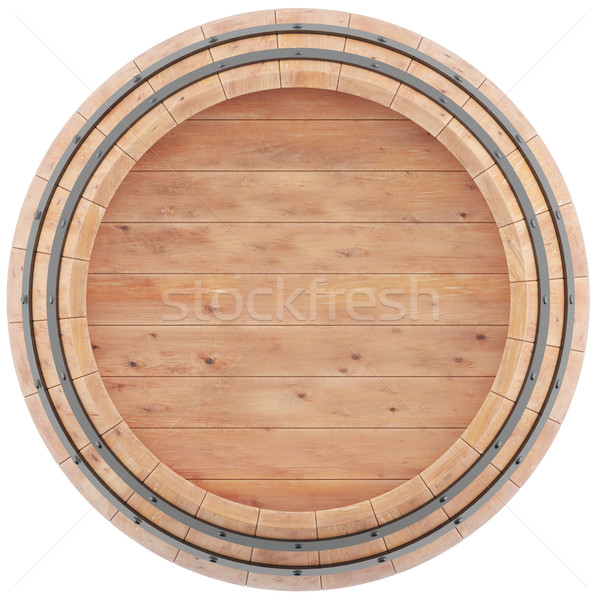 Wine, beer, whiskey, barrel top view of isolation on a white background. Stock photo © ZARost