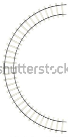 Curved railway isolated on white background. Stock photo © ZARost