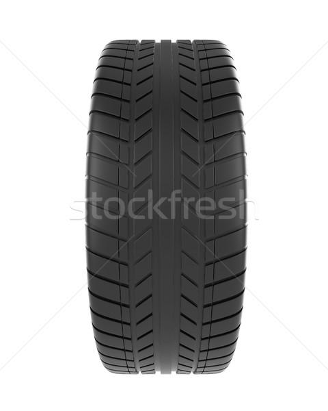 Carro pneu isolado branco ilustração 3d alto Foto stock © ZARost