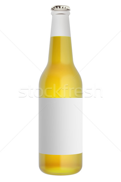 Tok bira şişeler etiket cam 3d illustration Stok fotoğraf © ZARost