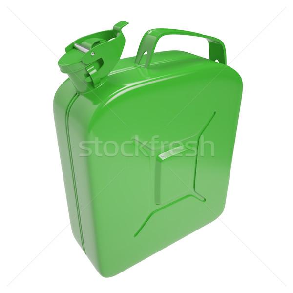 Brandstof benzine diesel gas geïsoleerd witte Stockfoto © ZARost