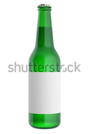 Vol bier flessen label glas 3d illustration Stockfoto © ZARost