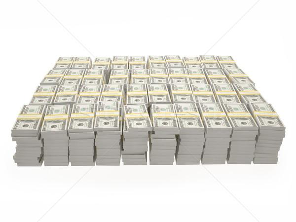 Illustratie amerikaanse dollar geïsoleerd witte business Stockfoto © ZARost