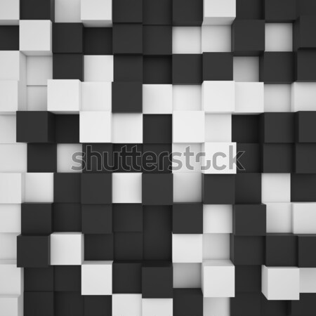 Branco preto abstrato ilustração ilustração 3d Foto stock © ZARost