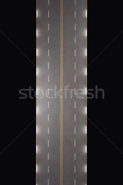 Weg geïsoleerd zwarte hoog 3D Stockfoto © ZARost