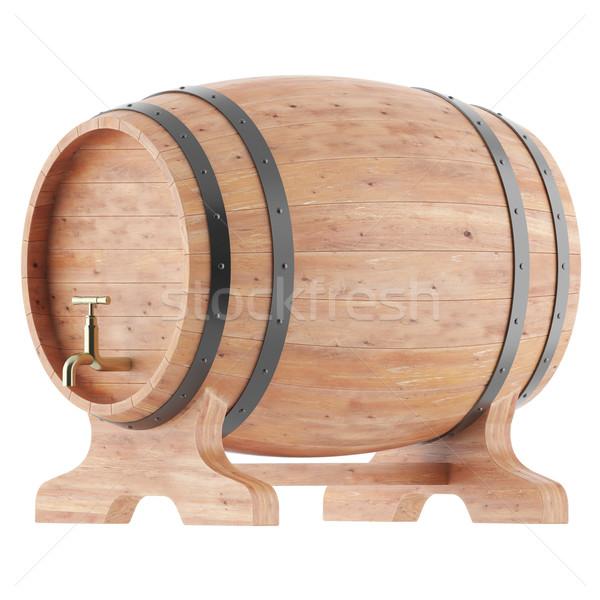 Stockfoto: Wijn · whiskey · bier · rum · geïsoleerd · witte · wijn