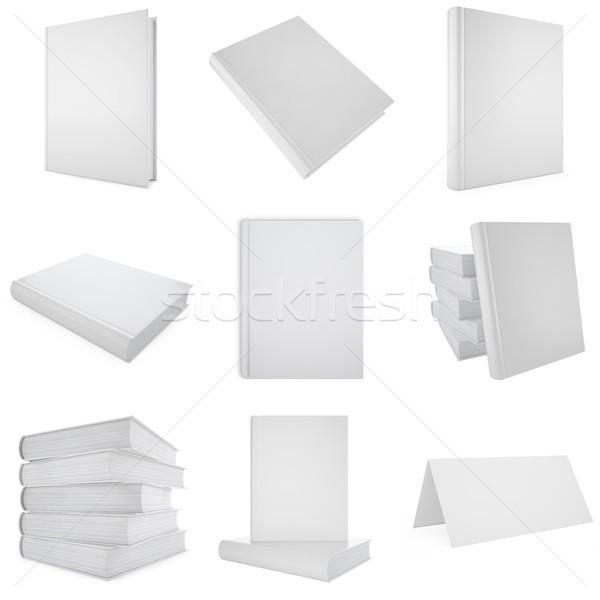 Ingesteld collectie witte boek 3d illustration school Stockfoto © ZARost