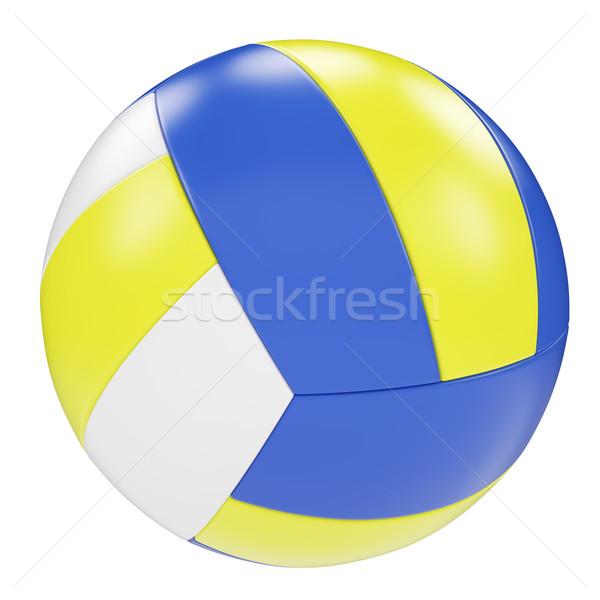 バレーボール 孤立した 白 3次元の図 高い ストックフォト © ZARost
