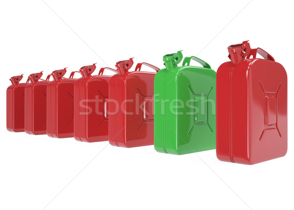 Aantal brandstof benzine diesel gas geïsoleerd Stockfoto © ZARost