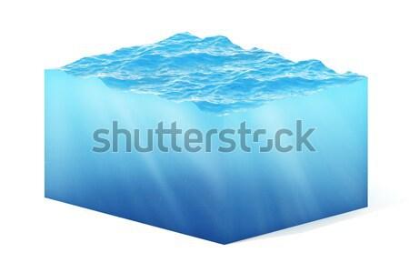 孤立した キューブ 水 白 世界中 海 ストックフォト © ZARost