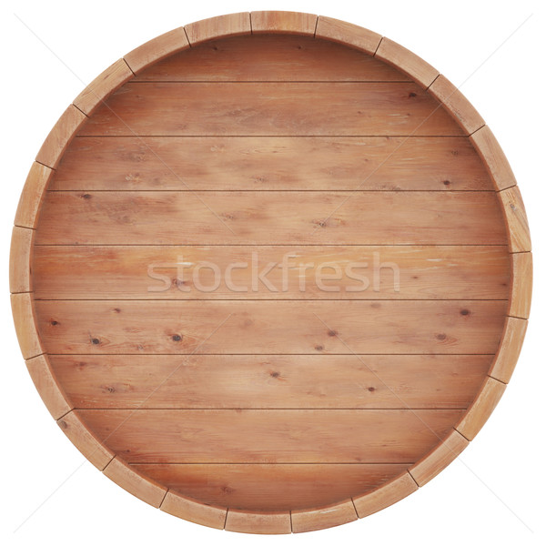 Wine, beer, whiskey, rum, barrel top view of isolation on a white background. Stock photo © ZARost