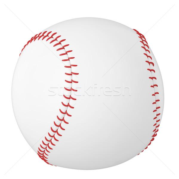 Beysbol top yalıtılmış beyaz 3d illustration yüksek Stok fotoğraf © ZARost