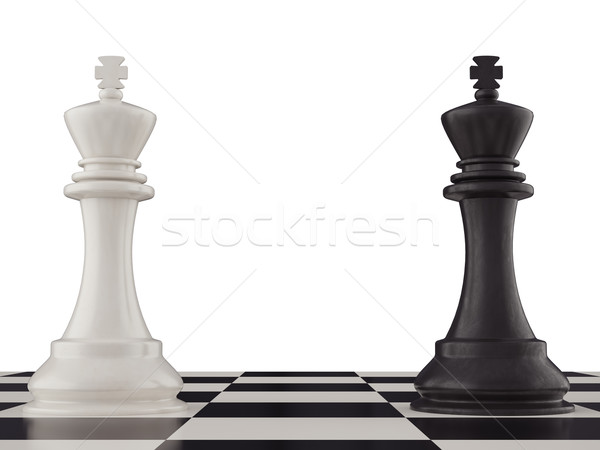 Black and white king on a chess board Stock photo © ZARost
