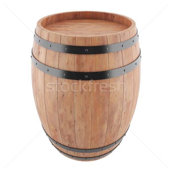 вино виски ром пива баррель изолированный Сток-фото © ZARost