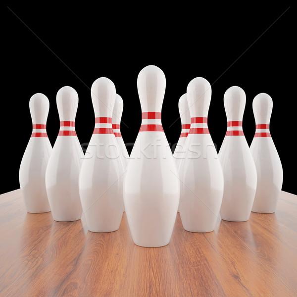 örnek bowling 3D yüksek karar Stok fotoğraf © ZARost