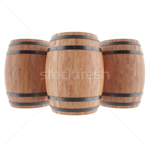 Photo stock: Vin · whiskey · rhum · bière · isolé · vin · blanc