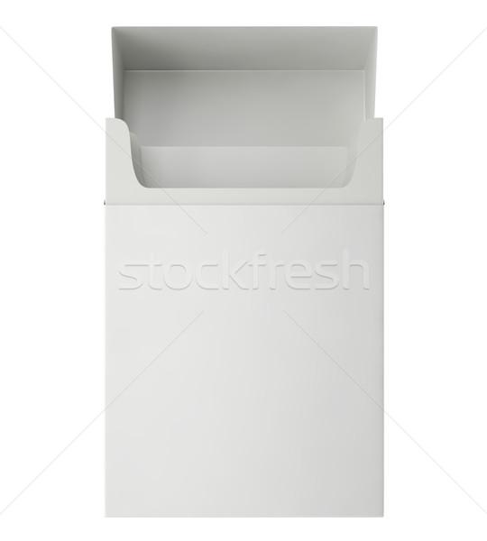 Açmak paketlemek sigara yalıtılmış beyaz 3d illustration Stok fotoğraf © ZARost