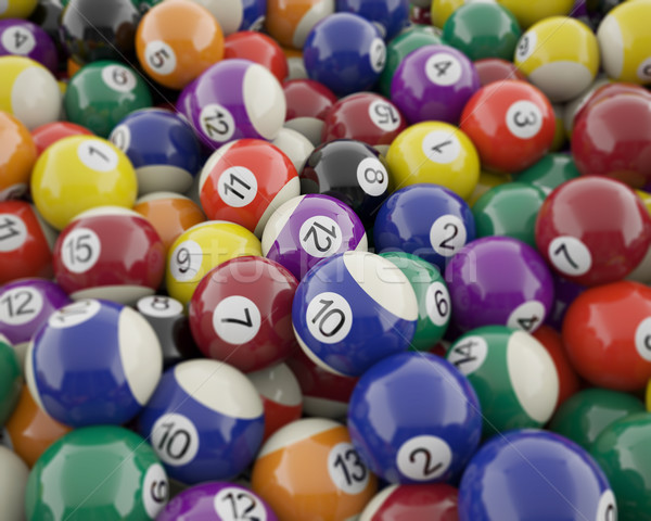 Group of shiny billiard balls with soft edges. Stock photo © ZARost