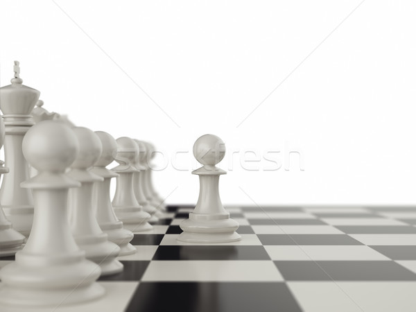 First move the pawns on a chessboard. Stock photo © ZARost
