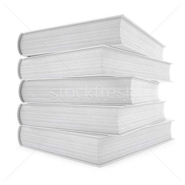 Geïsoleerd witte papier boek onderwijs Stockfoto © ZARost