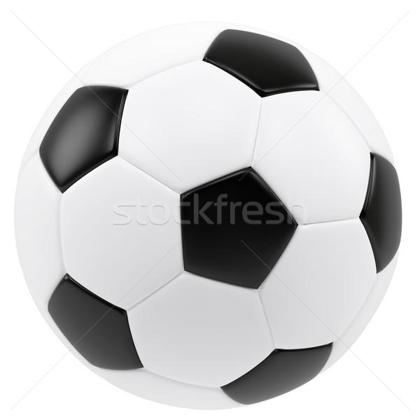 Voetbal geïsoleerd witte 3d illustration hoog Stockfoto © ZARost