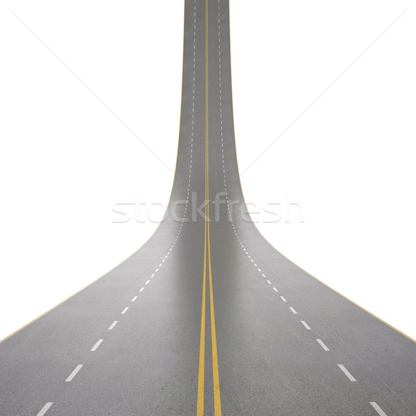 Illustratie wegen omhoog geïsoleerd witte 3d illustration Stockfoto © ZARost