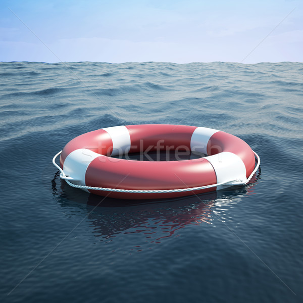Lifebuoy in the sea Stock photo © ZARost
