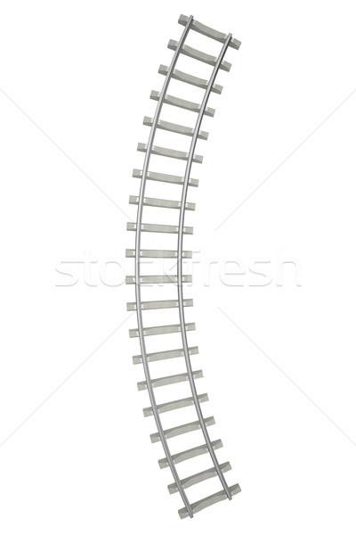 鉄道 孤立した 白 先頭 表示 3次元の図 ストックフォト © ZARost