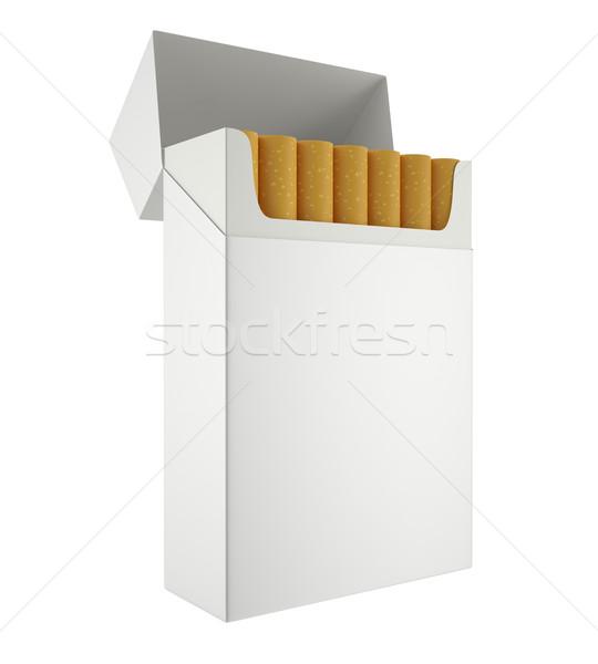 Paketlemek sigara yalıtılmış beyaz içinde 3d illustration Stok fotoğraf © ZARost