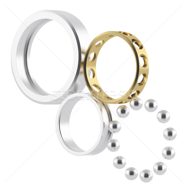 Isolated disassembled realistic bearing Stock photo © ZARost