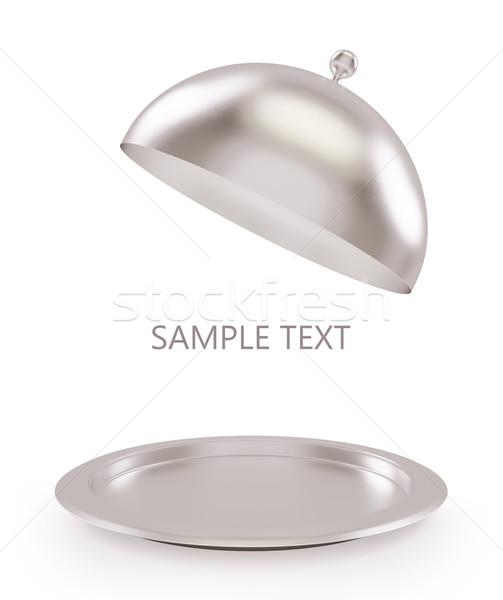 孤立した 銀 オープン トレイ 白 高い ストックフォト © ZARost