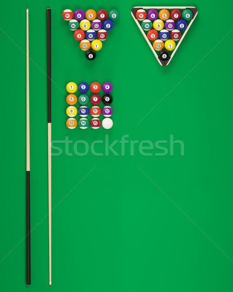 Elements of billiard balls Stock photo © ZARost