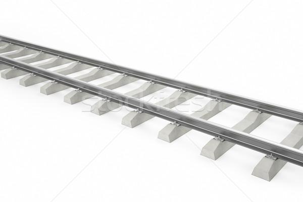 Illustratie spoorweg trein geïsoleerd witte schaduwen Stockfoto © ZARost
