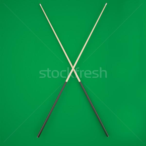 Groene biljart tabel 3d illustration hoog Stockfoto © ZARost