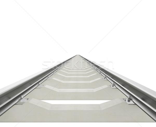 Illustration railway aspiring forward isolated on white background. Stock photo © ZARost