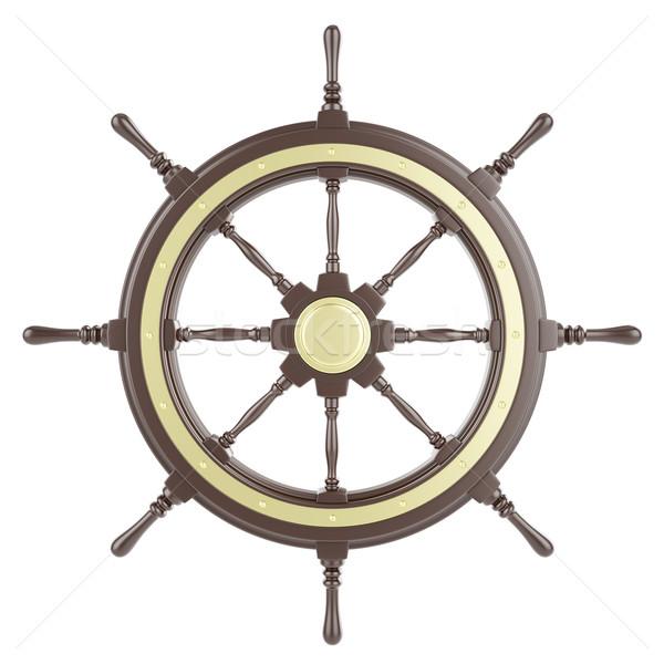 иллюстрация судно колесо изолированный белый 3d иллюстрации Сток-фото © ZARost