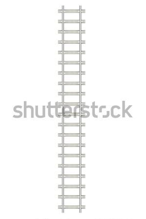 Kierować kolej żelazna odizolowany biały górę widoku Zdjęcia stock © ZARost