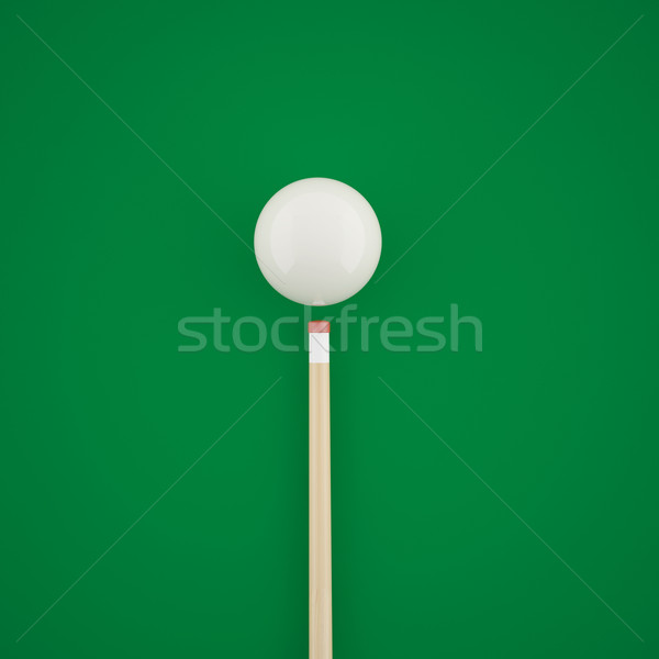 бильярдных зеленый таблице 3d иллюстрации высокий Сток-фото © ZARost