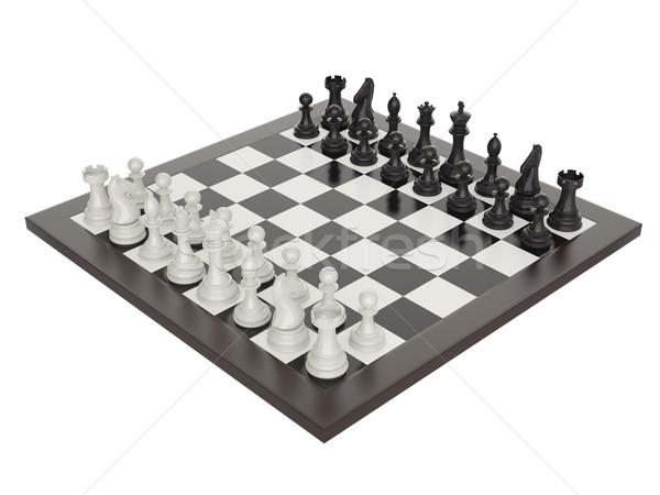 illustration of chess on chessboard Stock photo © ZARost
