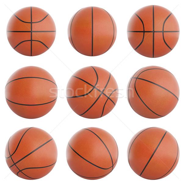 Ingesteld basketbal 3d illustration 3D hoog Stockfoto © ZARost