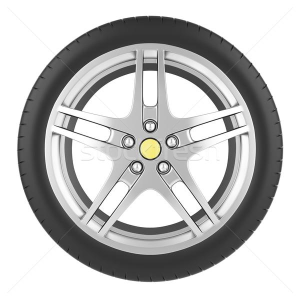 спорт автомобилей колесо изолированный белый 3d иллюстрации Сток-фото © ZARost