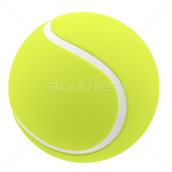 テニスボール 孤立した 白 3次元の図 高い ストックフォト © ZARost