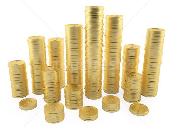 スタック コイン 実例 3dのレンダリング お金 ストックフォト © ZARost