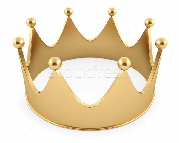 Illustratie gouden kroon geïsoleerd witte metaal Stockfoto © ZARost