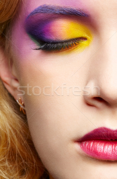 Belle femme visage portrait Photo stock © zastavkin