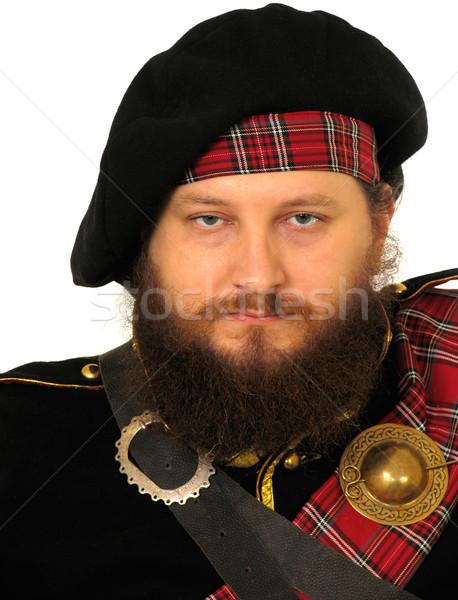 Scottish warrior Stock photo © zastavkin