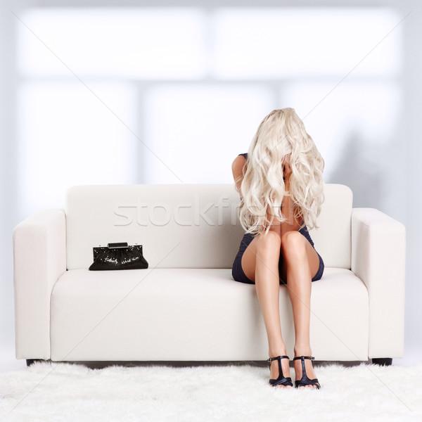Menina desespero retrato deprimido belo jovem Foto stock © zastavkin