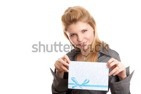 Girl with envelope Stock photo © zastavkin