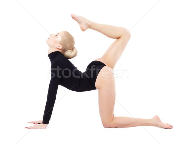 Zdjęcia stock: Piękna · gimnastyk · odizolowany · portret · młodych