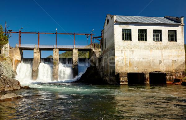 Chemal hydroelectric power plant Stock photo © zastavkin